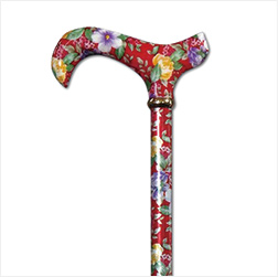 Classic Cane/Extending Derby 伸縮ロング Red Floral